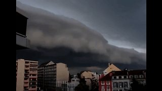 Dark Shelf Clouds Roll in Across Southwest France