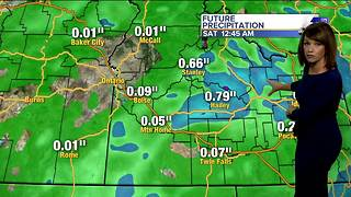 Windy and cool Friday morning with thunderstorms dropping some heavy rain later - Video