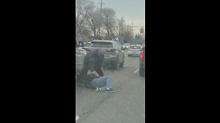 Video: Man's ankle ran over during road rage incident