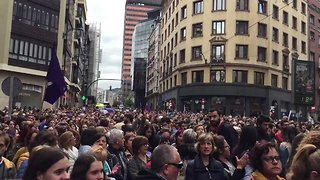 Large Crowds Join Protests Against 'Wolf Pack' Rape Acquittal - Video