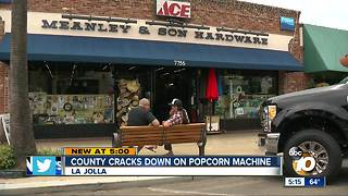 Health Department forces La Jolla hardware store to stop giving away free popcorn - Video