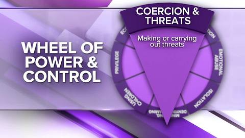 Wheel of Power and Control: Economic Abuse, Coercion & Intimidation