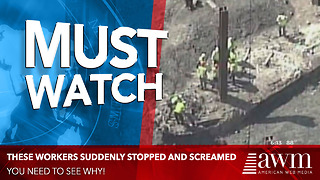 Construction Workers Scream Stop After Realizing What They Accidentally Unearthed - Video