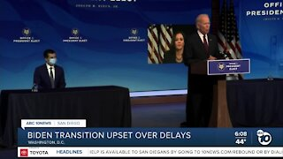 Biden transition team upset over delays