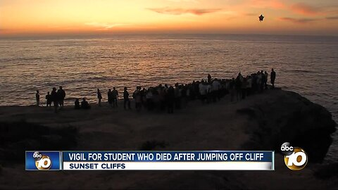 Vigil held for student who died after jumping off cliff