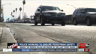 Police respond to deadly year for pedestrians - Video