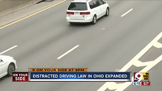 Ohio distracted driving law expanded