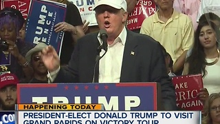 President-elect Donald Trump to visit Grand Rapids on victory tour - Video