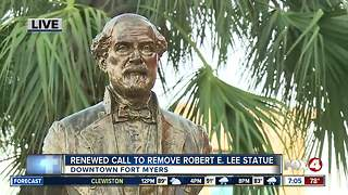 Renewed interest in removing Robert E. Lee statue in Fort Myers - Video