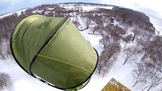 Sky high – Video shows world's most amazing campsite - Video