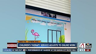 Children's therapy service adjusts to online work