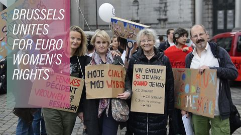 """""""My body, my choice"""" Brussels protests"""