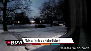 Meteor lights up metro Detroit - Video