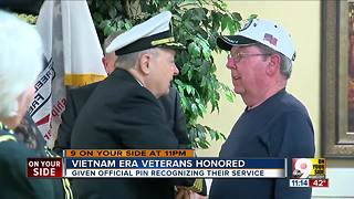 Vietnam era veterans honored - Video