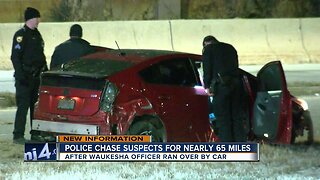 Police chase suspects for nearly 65 miles after officer run over by car