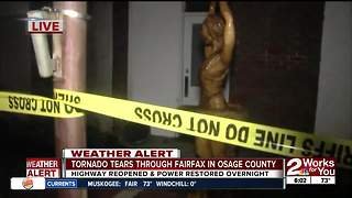 Tornado damages historic buildings in Fairfax