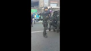 Armed police outside Parsons Green Station - Video