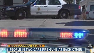 Police investigate report of vehicle-to-vehicle gunshots in Oak Park - Video