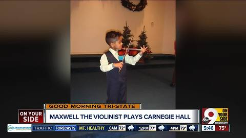 Local teen violinist practices 2-4 hours a day and hopes to play professionally