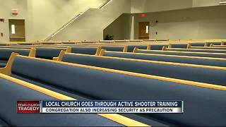 Police urging local churches to heighten security following Texas attack - Video