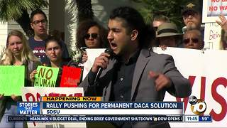 San Diego State rally pushing for permanent DACA solution
