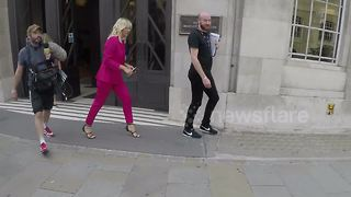 Zoe Ball arrives at the Strictly Come Dancing Launch - Video