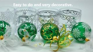 How to create your own decorative Christmas tree ornament - Video