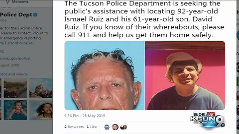 TPD searching for two missing