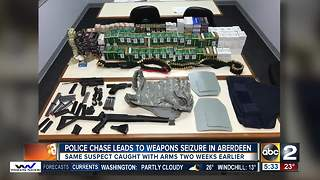Police chase leads to weapons seizure in Aberdeen - Video