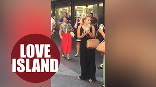 Footage of Love Island star dancing outside Harrods