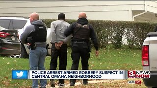 Police arrest armed robbery suspect in central Omaha neighborhood