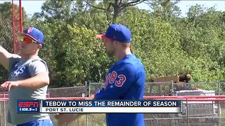 Tim Tebow out for the season