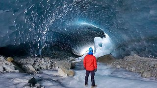 Explorers Visit Stunning Ice Caves That Look Like Another Planet