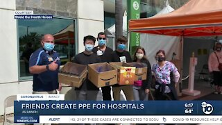 High school friends create PPE for hospitals