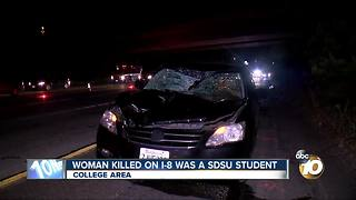 Woman killed on I-8 was San Diego State University student - Video