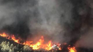 Aerial Footage Shows Scale of California's Detwiler Fire - Video
