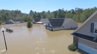 Man With Drone Saves Veteran Caught in Extreme Flooding in North Carolina - Video