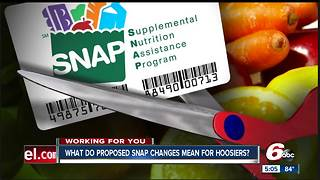 Big changes could be coming for thousands of Hoosiers who receive food stamps - Video