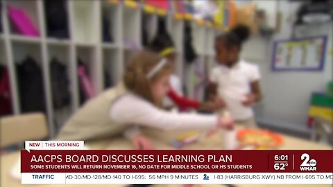 AACPS Board discusses learning plan