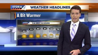 Meteorologist Josh Wurster's Forecast - Video