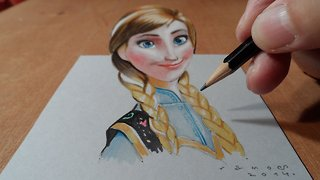 Drawing Anna from Frozen - Video