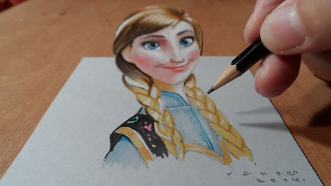 Drawing Anna from Frozen