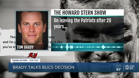 Tampa Bay Buccaneers quarterback Tom Brady opens up to Howard Stern about legacy