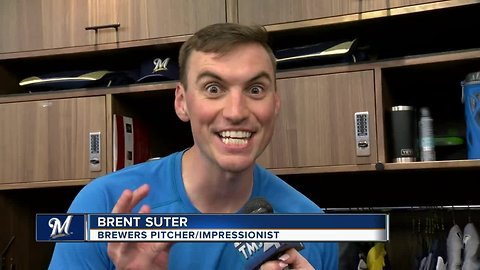 Brewers' Brent Suter is a master at impressions