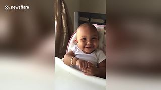 Cute Baby Girl Laughs Like A Chipmunk  - Video