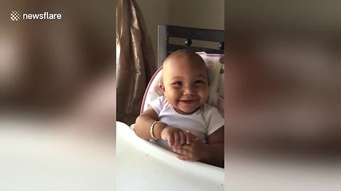 Cute Baby Girl Laughs Like A Chipmunk