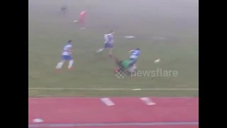 Greek third-division soccer player celebrates 'goal' too early - Video