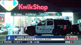 Council Bluffs Police investigate armed robbery - Video