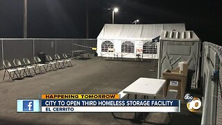 City set to open third homeless storage facility