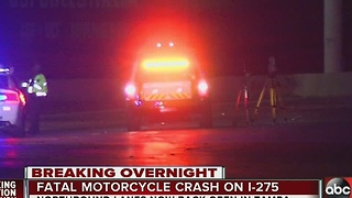Fatal motorcycle accident on I-275 overnight - Video